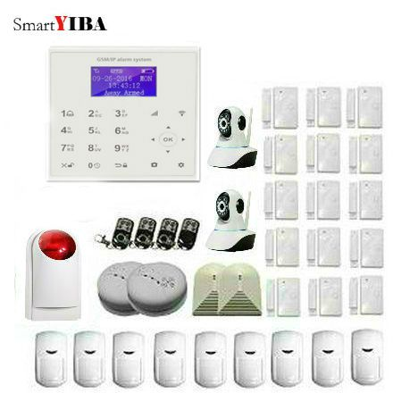 SmartYIBA WIFI GSM GPRS SMS Alarm Security System APP Remote Control Alarm Kits With PIR Motion Detector Strobe Siren