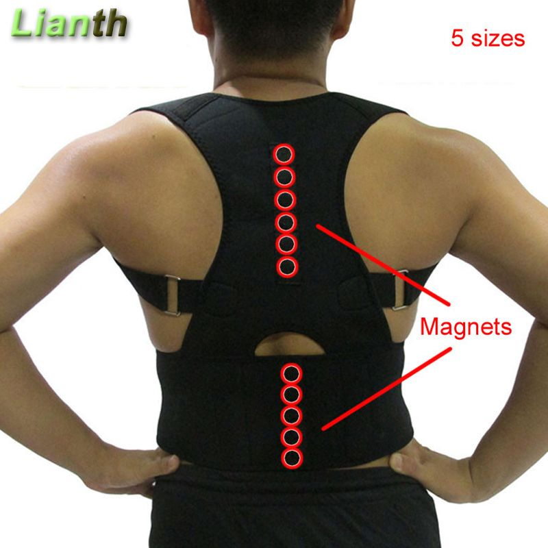 Top Quality Magnetic Back Posture Corrector for Student Men and <font><b>Women</b></font> 5Sizes Adjustable Braces Support Therapy Shoulder T174K03