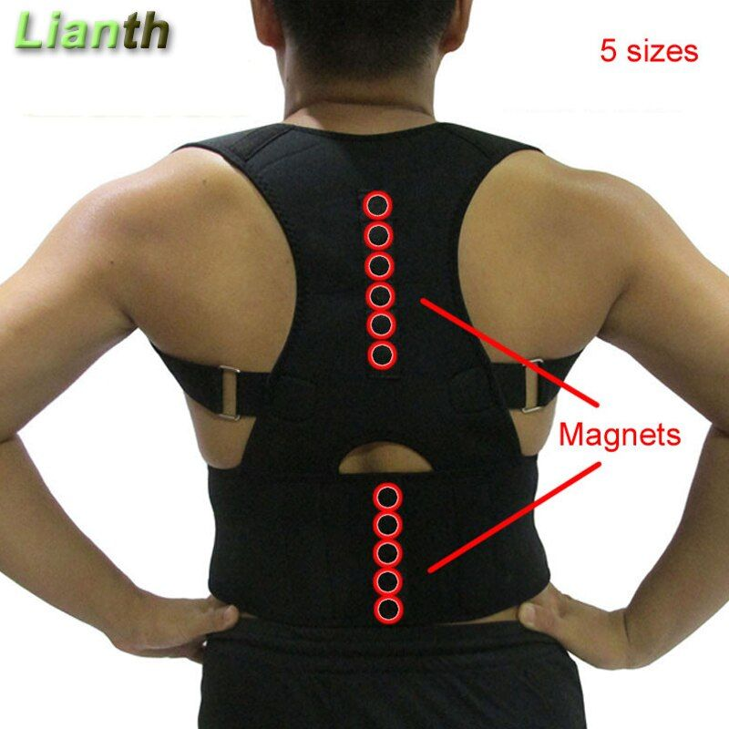 Top Quality Magnetic Back Posture Corrector for <font><b>Student</b></font> Men and Women 5Sizes Adjustable Braces Support Therapy Shoulder T174K03
