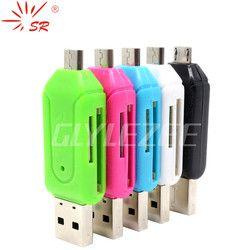 SR 2 en 1 USB OTG Lecteur de Carte Universel Micro USB OTG TF/SD Lecteur de Carte Têtes D'extension de Téléphone Micro USB OTG Adaptateur