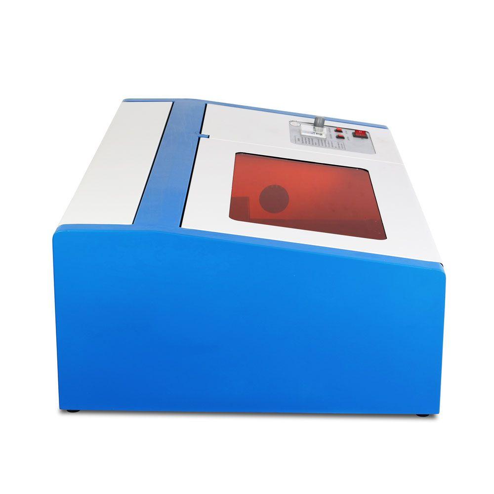 Hochpräzise 40 Watt CO2 USB Lasergravur Schneidemaschine Engraver Holzfäller UNS Lager