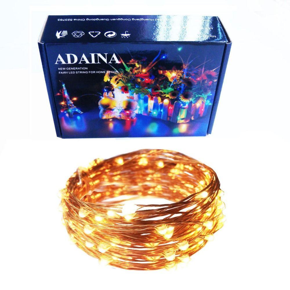 99ft 30 M 300 LEDs de Alambre de Cobre LED Luces de Hadas de Cuerda Al Aire Libre A Prueba de agua Decoración de Navidad Guirnalda de la Luciérnaga Estrellado Luz