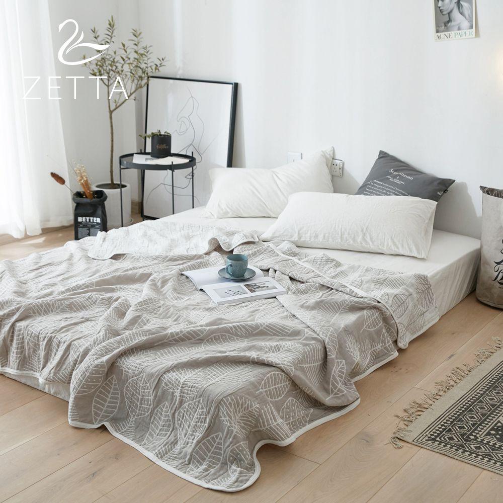 [ZETTA] 100% cotton Summer Adult Quilt Cover Quilt Blanket Soft Sofa/Air Conditioning Blanket Blanket 0005