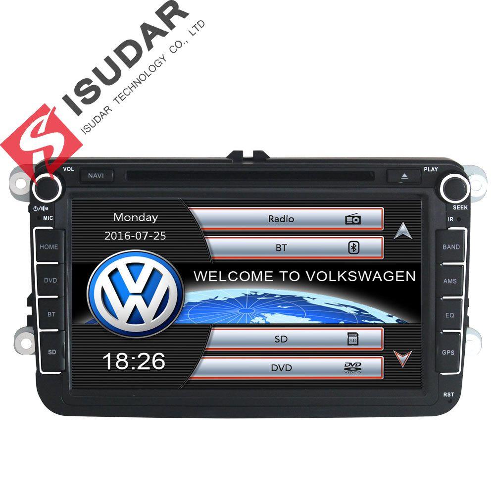 Два Дин 8 дюймов dvd-плеер автомобиля для VW/POLO/Passat/Гольф/Skoda/Octavia/ сиденье/Леон с Wi-Fi Радио GPS навигации 1080 P ipod fm Географические карты