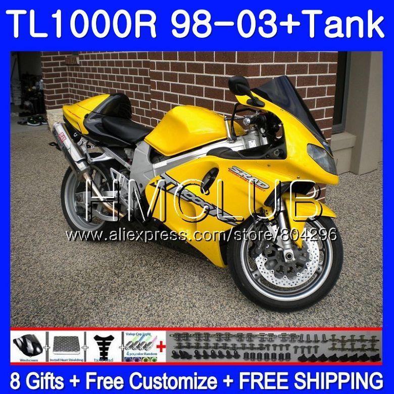 + Tank Heißer gelb Für SUZUKI TL 1000 R TL1000R 98 99 00 01 02 03 25TK. 3 TL1000 R TL 1000R 1998 1999 2000 2001 2002 2003 Verkleidung