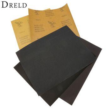 5 Feuilles Papier de Verre Étanche Papier Abrasif Papier de verre (1 xGrit 600 2x1000 1x1500 1x2000) Silicone Carbure de Broyage Polonais Outil