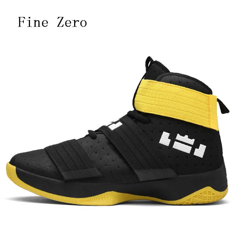 Fine <font><b>Zero</b></font> Men's Basketball Shoes Air Damping Men Sports Sneakers High Top Breathable Trainers Leather Men Outdoor high tops