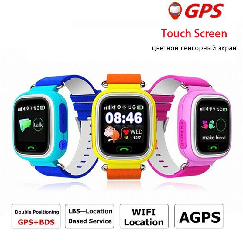 Q90 GPS smart watch baby watch Wifi touch screen SOS Call Location Tracker for Kids Safe Anti-Lost Monitor Smartwatch PK Q60 Q80