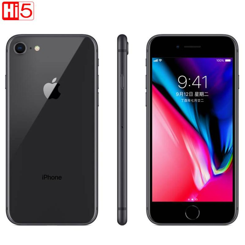 Unlocked Apple iphone 8 64G ROM Wireless charge iOS Hexa core Fingerprint A11 Bionic Fingerprint mobile used smart phone