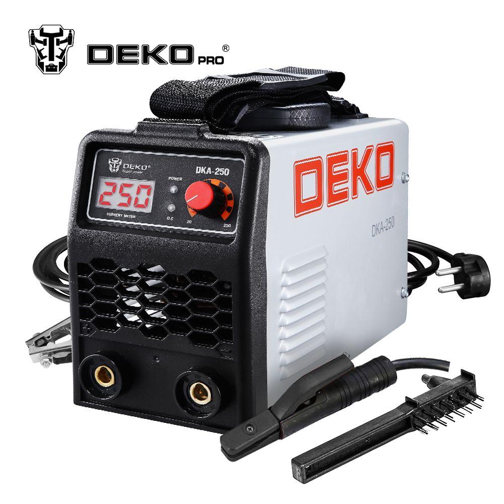 DEKOPRO DKA-250 250A 6.8KVA IP21S Inverter Arc Electric Welding Machine MMA Welder for Welding Working and Electric Working