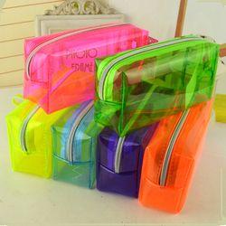 Candy colors pencil box Transparent estuches school girl Kawaii pencil cases lapis escolar astuccio scuola pencilcase papelaria