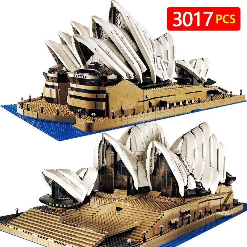 Creators Compatible LegoINGLYS City Sydney Opera House Model Building Kits Blocks KidToy Brick Architecture Toys For Children