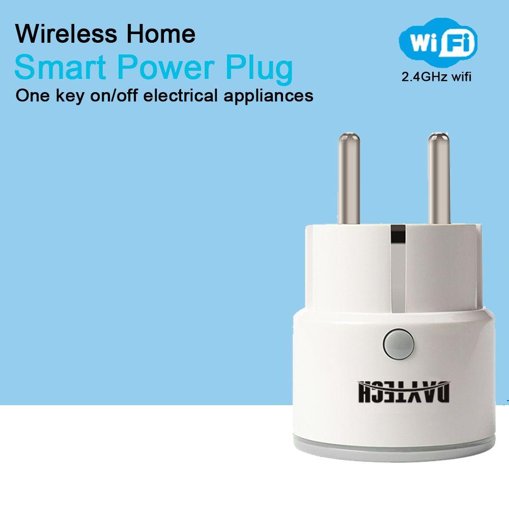DAYTECH WiFi EU Home Smart Power Plug Mini Electric Power Plug Timing Function APP Control for Alexa/IFTT/Google IFTTT