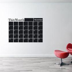 1 PC Nouveau Mois Plan Calendrier Mural Mensuel Tableau Blackboard Sticker Accueil Stickers Bureau Fournitures de Bureau de Papeterie Scolaire Ensembles