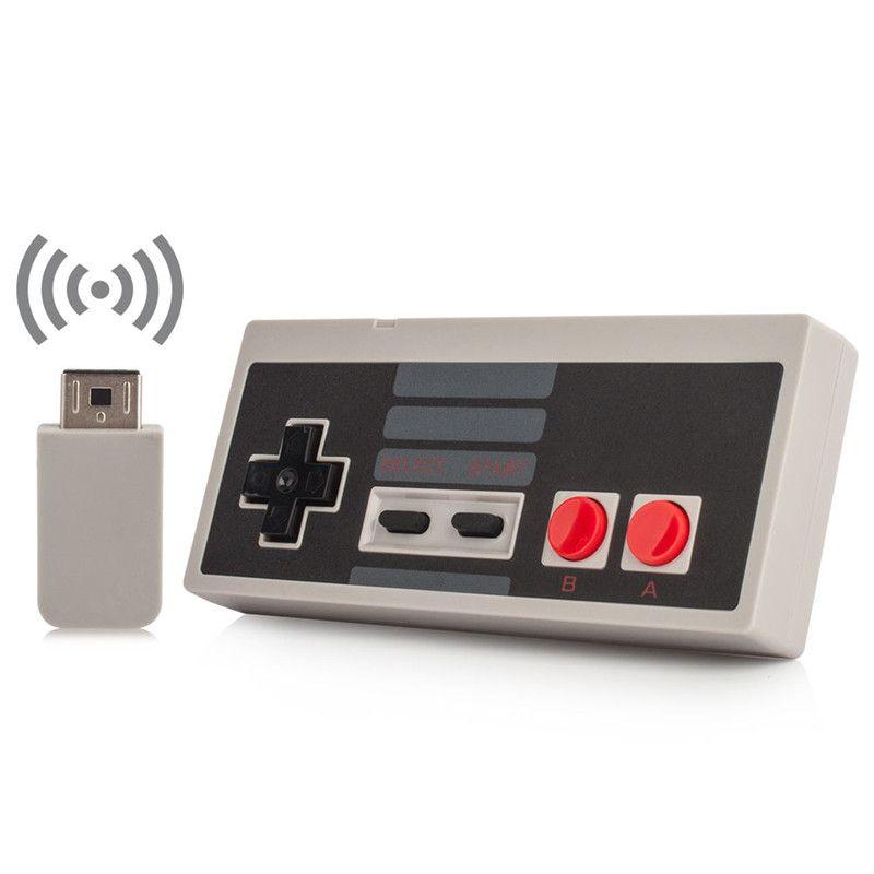 Sans fil USB Plug And Play Gaming Controller Gamepad pour NES Mini Classique Édition pour NES Contrôleur Avec Wrireless Récepteur