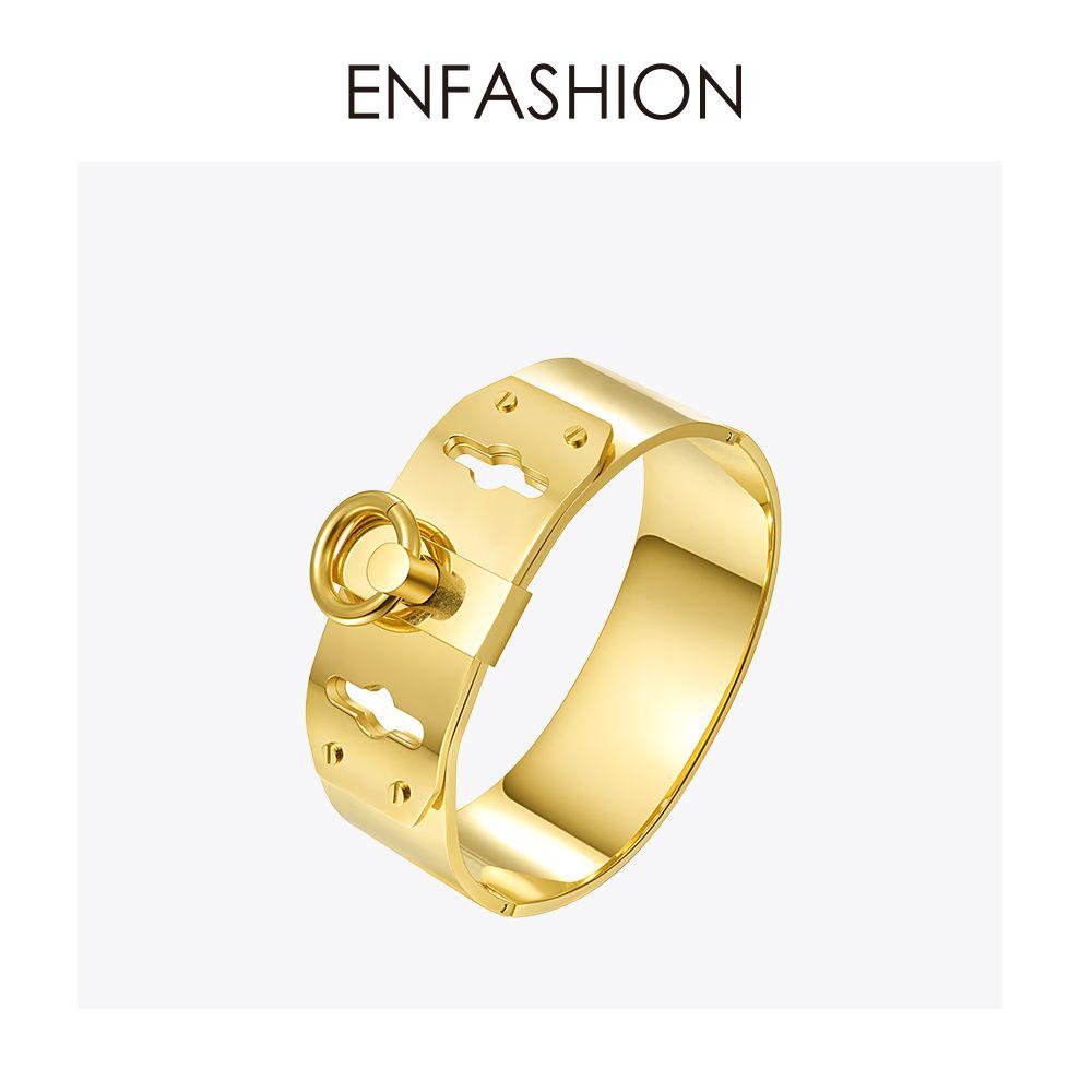 Bijoux Enfashion anneau de cercle large Manchette Bracelet Noeud brassard couleur or Bracelet pour femmes Bracelets Manchette Bracelets