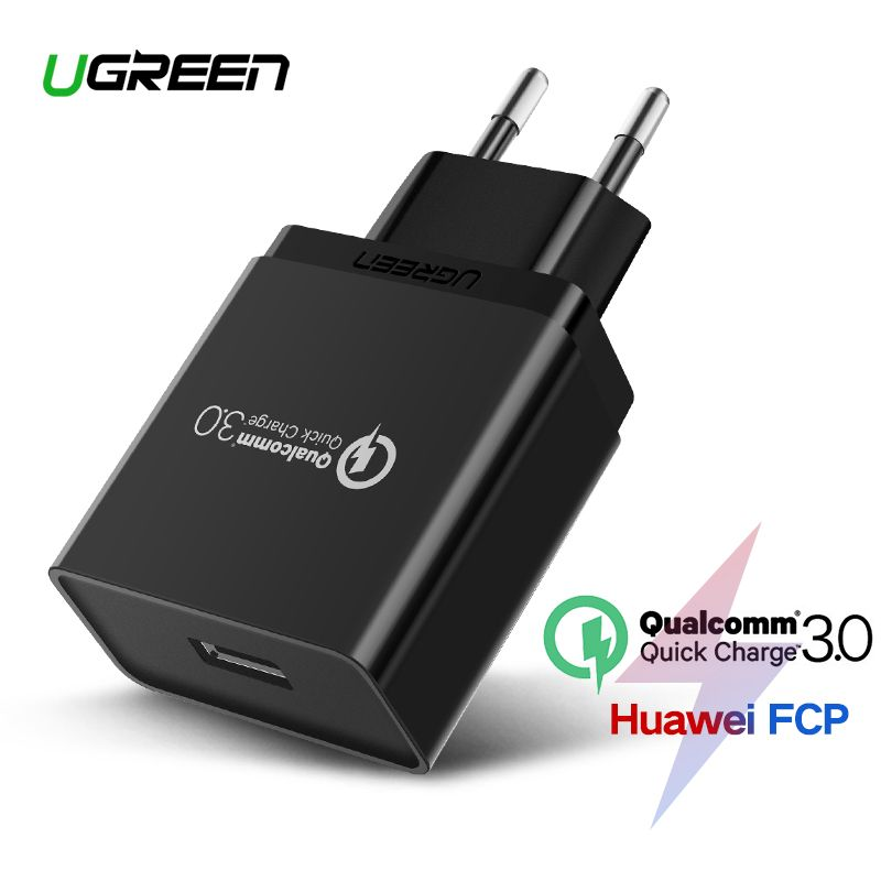 Ugreen chargeur usb 18 W charge rapide 3.0 téléphone portable chargeur pour iphone Rapide QC 3.0 Chargeur pour Huawei Samsung Galaxy S9 + S10
