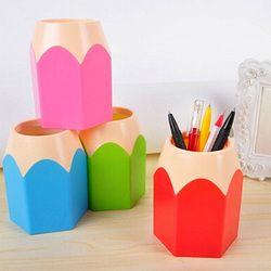 Creative Stylo Vase Crayon Pot Maquillage Brosse Titulaire Papeterie Bureau Bien Rangé Conteneur AIZB
