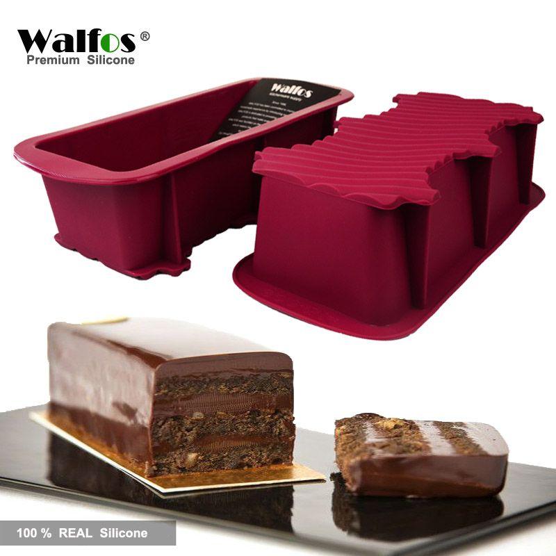 WALFOS 1 pièce moule à pain gâteau antiadhésif ustensiles de cuisson grand toast panière à pain français-moule à pain à savon-cuisson silicone moule à gâteau