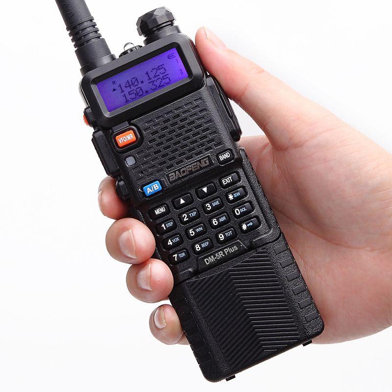 Baofeng DM-5R plus DMR Digital Radio Walkie Talkie, VHF / UHF 136-174 / 400-480MHz 3800mAh Two-Way Radio Transceiver