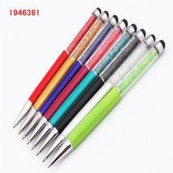 Мода 098 Хрустальная ручка круглый сенсорный экран планшет ручка для смартфона планшет для школы офис шариковая ручка