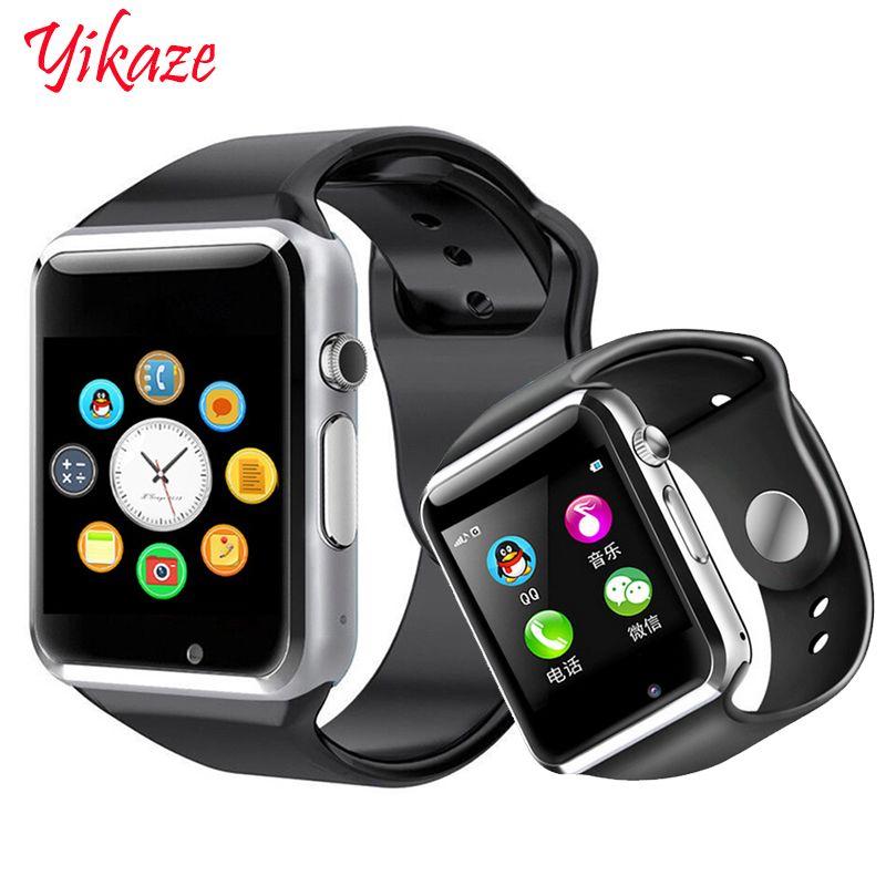 Montre intelligente A1 pour enfants hommes femmes android Bluetooth Smartwatch avec prise en charge de l'appareil photo appel musique photographie SIM TF carte & DZ0