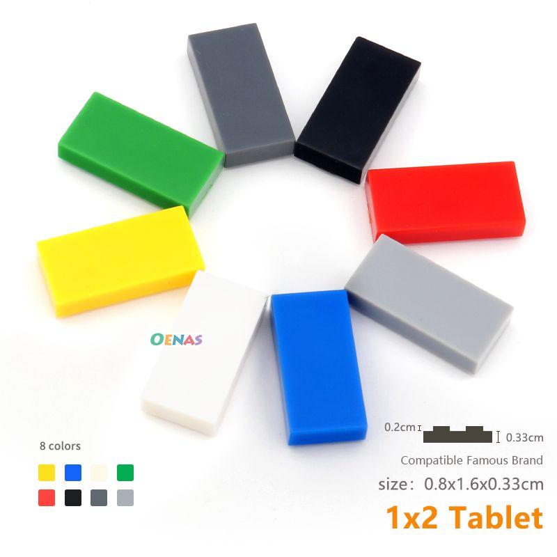 moc tiles 1x2 with groove 3069b tablet DIY enlighten block bricks Compatible With Assembles Particle 200pcs/lot Building Block