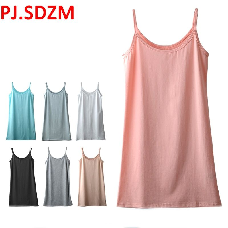 2pcs/lot Girl Modal Basic Tops Cloth Summer Wear Soft Touch Basic Camis Women's Sexy Solid Color Loose Stretch Linner Tops