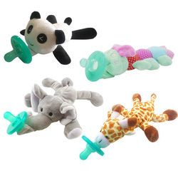 Cute Newborn Baby Kids Toy Dummy Nipple Soother Silicone Orthodontic Pacifier Lovely Animal Plush Giraffe Pacifier