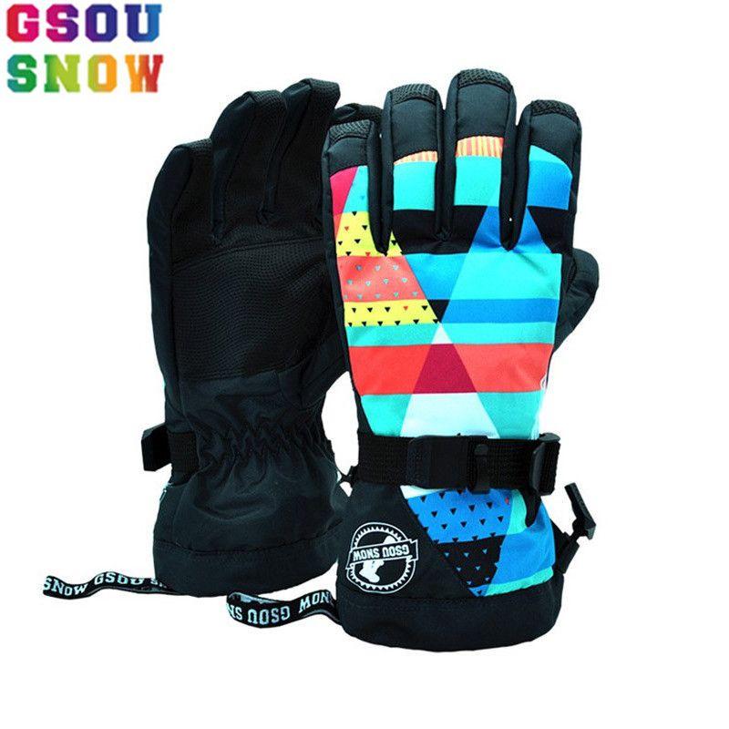 Marke GSOU SCHNEE Ski Handschuhe Frauen Snowboard Handschuhe Weibliche Wasserdichte Mountain Ski Handschuh Winter Im Freien Snowboard Snowmobile