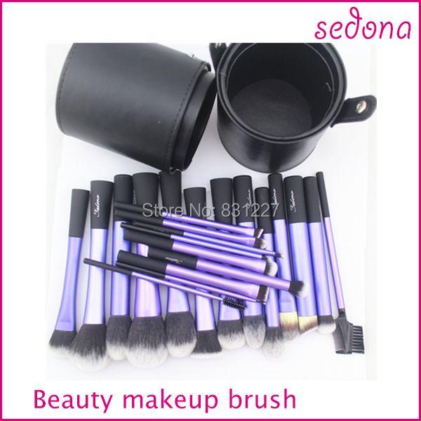 Sedona 22 pièces Llong Métal Maquillage Brosse Ensemble avec Grand Cylindre Diamètre 10mm Hauteur 20mm
