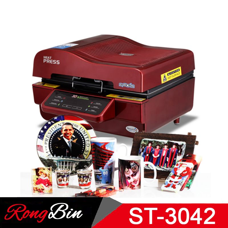ST-3042 3D Sublimation Printer 3D Vacuum Sublimation Heat Press Transfer Machine Printing for Phone Cases Mugs Plates Glasses