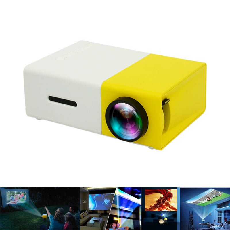 New Hot Portable Projector HD 1080P LCD PC Laptop Media Player YG-300 USB Home Theater For Video/Movie/Game 8 @88 99