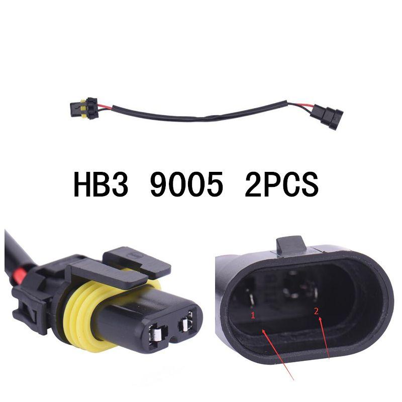 Voiture style 2 pièces 9005 9005XS 9145 HB3 faisceau de câblage prise de fil connecteur prise Ballast prise HID adaptateur de câblage Conversion Ki