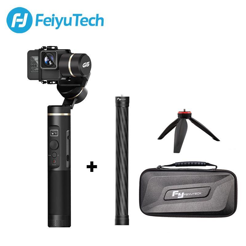 FeiyuTech G6 Splashproof Handle Gimbal Wifi + Bluetooth OLED Screen Action Camera stabilizer Tripod Pole for Gopro Hero 6 5 RX0