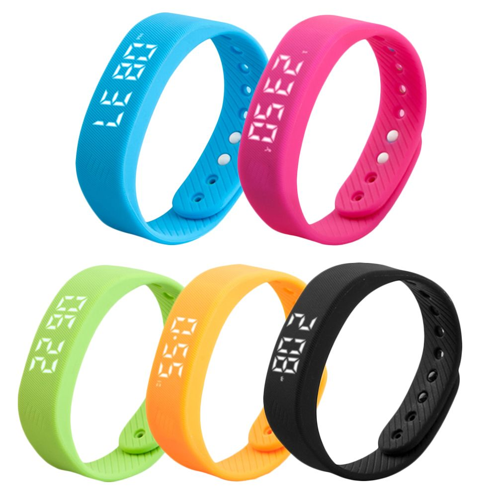 3D T5 Led-anzeige Sport Gauge Fitness Armband Smart Step Tracker Pedometer 5 farben neue ankunft