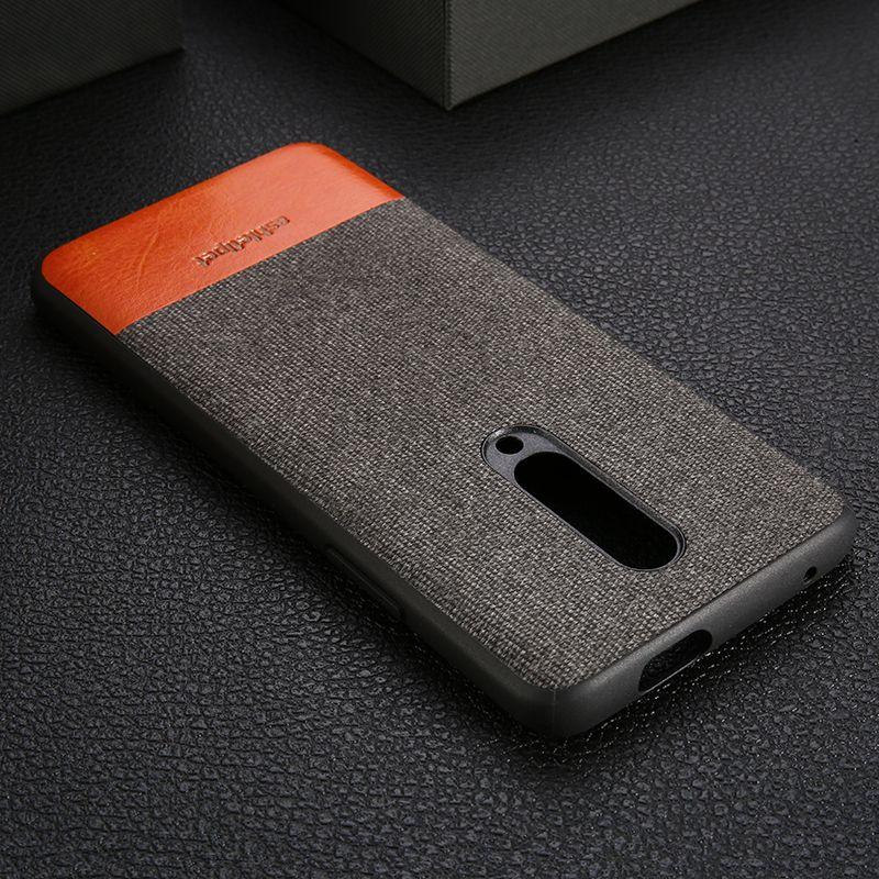 Étui en cuir véritable pour Oneplus 5 5 T 6 6 T 7 Pro couverture arrière peau de vache toile point cas pas cher meilleur téléphone mobile shell en gros