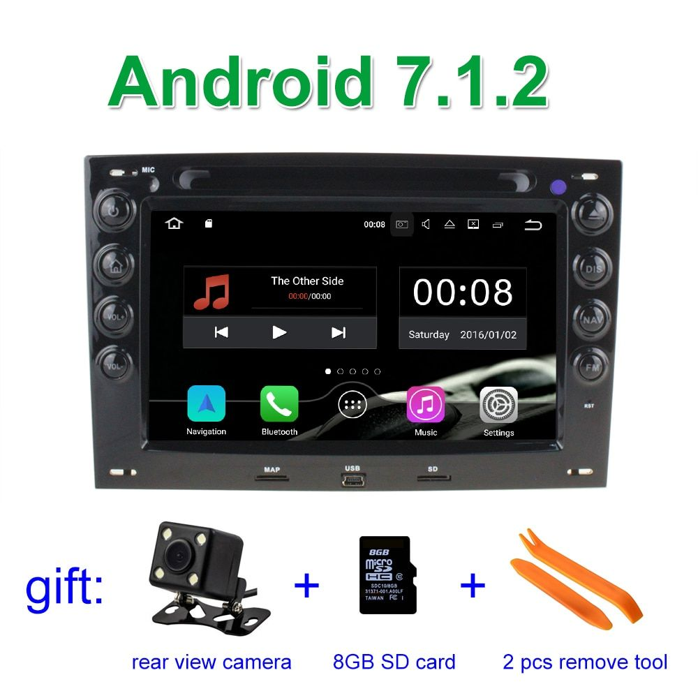 Android 7.1 Car DVD Player Radio for Renault Megane 2 ii 2006 2007 2008 2009 2010 with BT Wifi GPS