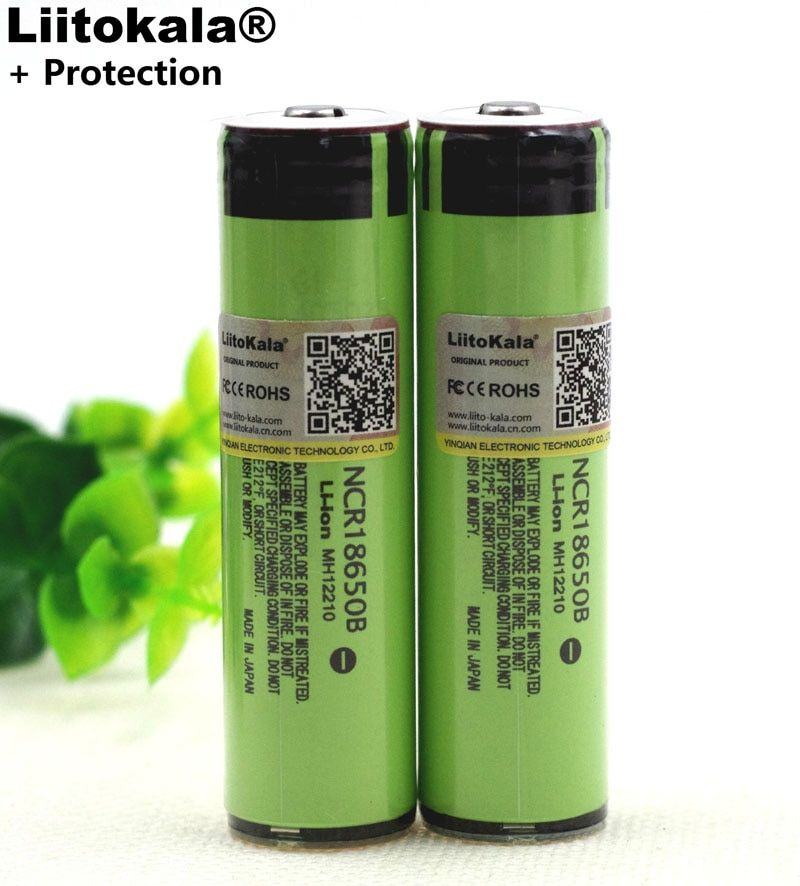 Liitokala New secure Original NCR18650B 3400mAh 18650 Rechargeable Battery with PCB 3.7v for Flashlight batteries
