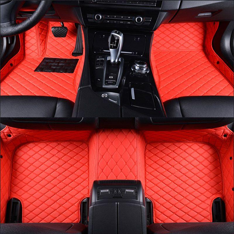 Auto fußmatten für Jaguar XF XE XJL XJ6 XJ6L F-PACE F-TYPE marke fest weiche auto zubehör auto styling Benutzerdefinierte fußmatten rot