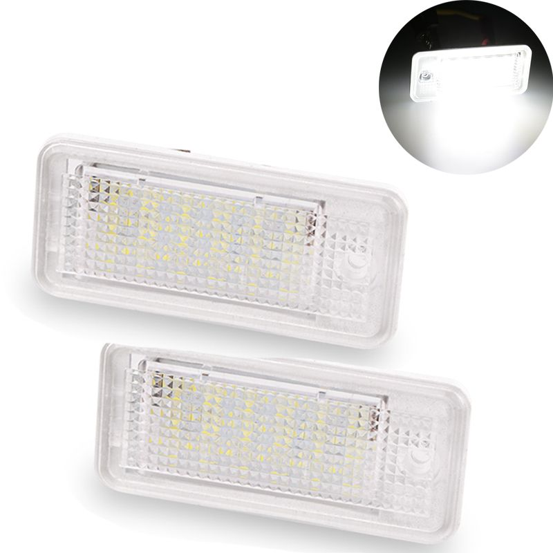 1 Para 18 SMD 3 Watt led kennzeichen licht led-lampe kennzeichenbeleuchtung Weiß für Audi A4 A6 C6 Rs4 Rs6 Q7 A3 S3 S4 B6 B7 S6 A8 S8