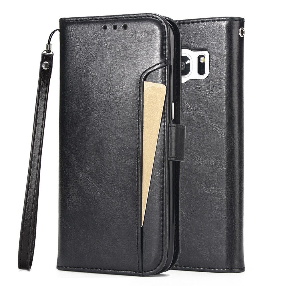 For Samsung Galaxy S7/S7 Edge Case , WEFOR PU Leather Flip Kickstand Wallet Case with Card Slots for Galaxy S7
