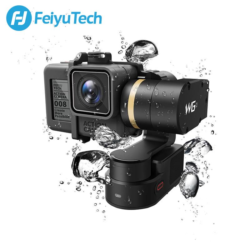 FeiyuTech Feiyu WG2 Wearable Mountable 3-axis Waterproof Gimbal Stabilizer for Gopro 6 4 5 session YI 4K SJCAM AEE Action Camera