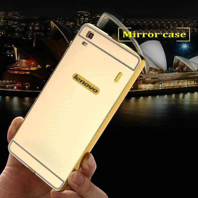 For Lenovo Lemon K3 K5 K8 K10 S850 P70 S90 Mirror Back Cover Case Aluminum Metal Frame Cases for Samsung Galaxy J3 J5 J7 2017 S9