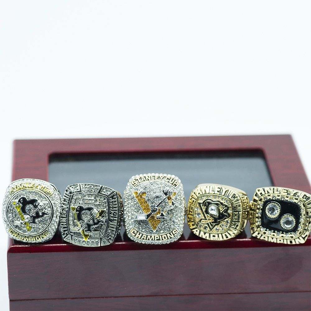 High-quality 5pcs/set 1991 1992 2009 2016 2017 Pittsburgh Penguins ring Stanley Cup rChampionship ring
