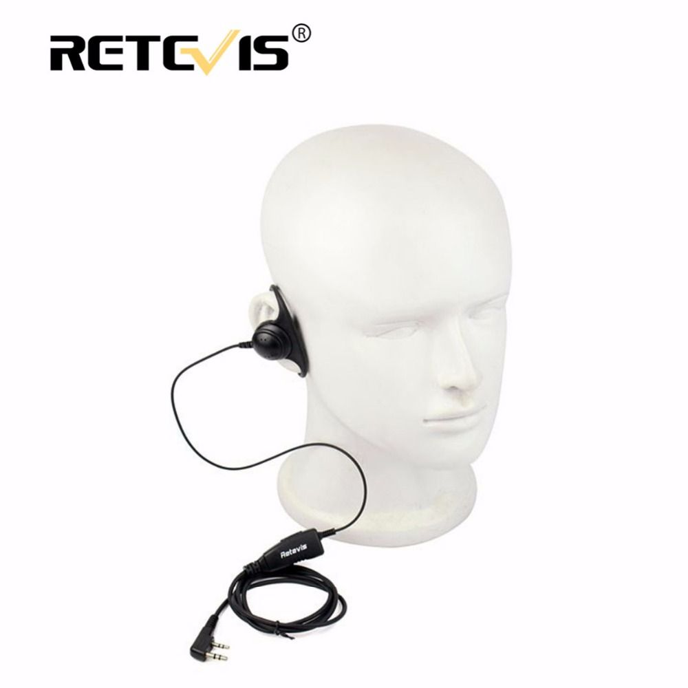 D shape Soft Ear Hook Earpiece 2Pin PTT Mic Headset For Kenwood For Baofeng UV-5R 888S Retevis H777 RT5 RT5R For TYT for Puxing