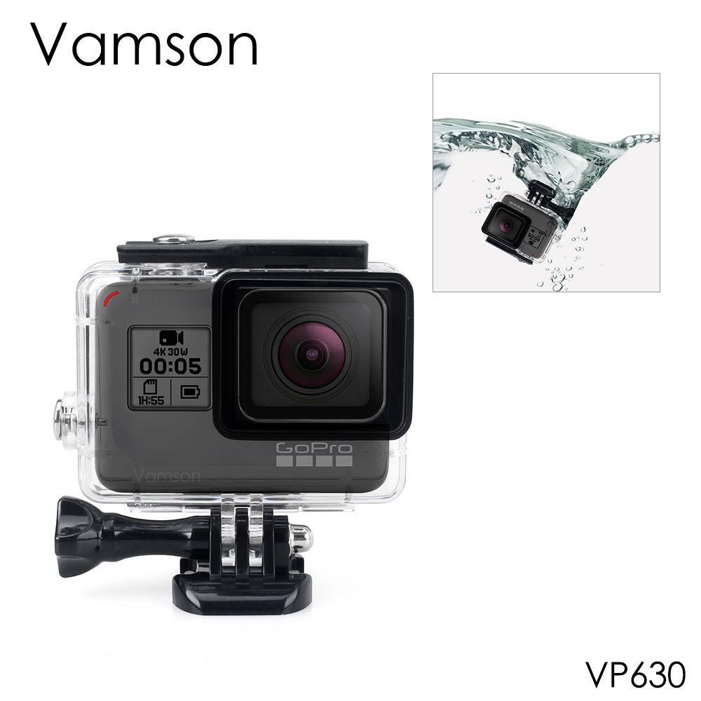 Vamson pour Gopro Hero 7 6 5 accessoires boîtier de Protection étanche boîtier de plongée 45 M de Protection pour Gopro Hero 6 5 caméra VP630
