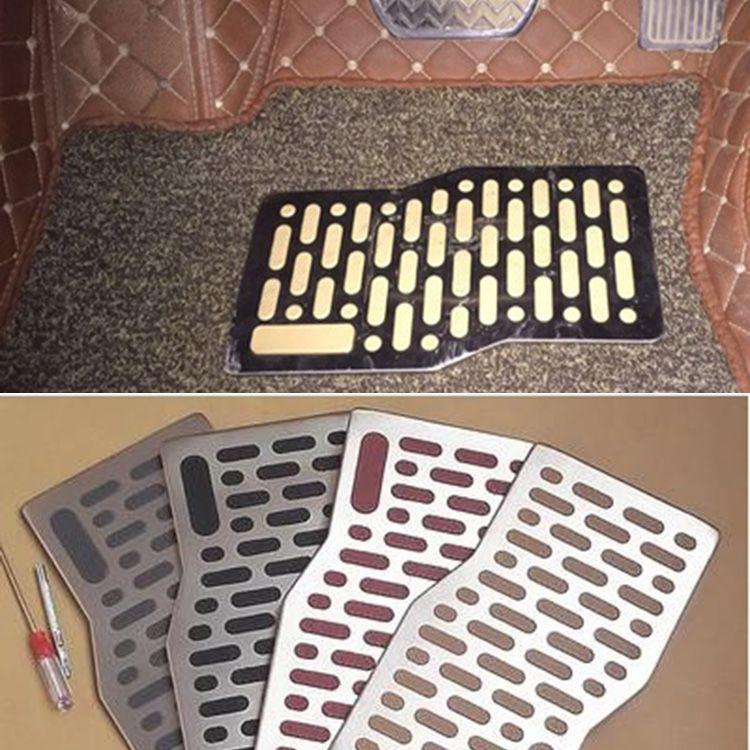 Car Floor mats Carpet Auto Aluminum Mats Pad Plate Pedal Foot Rest for BMW all model e46 e39 e60 e90 f30 e30 e36 f10 e34 x5 e70