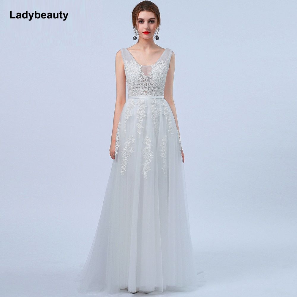 Robe de Mariage Sexy Open Back Bohemian Lace Vintage Boho Beach Wedding Dress 2017 Romantic Wedding Gowns Vestido de Noiva