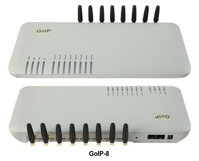 GoIP 8 <font><b>ports</b></font> gsm gateway/voip sip gateway/IP GSM Gateway/ GoIP8 VoIP GSM Gateway support SIP/H.323 -sales Promotion